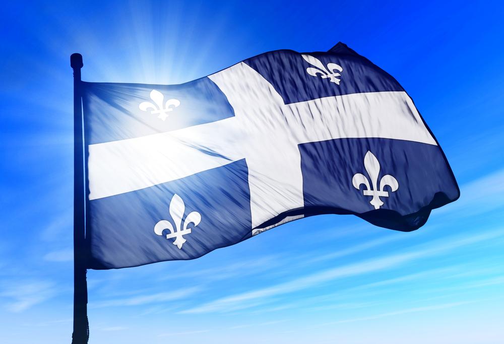 Quebec flag  Conheça o Mon Projet Québec:  Novo sistema de imigração online da província shutterstock 156329441